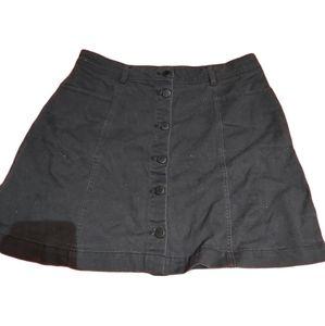H&M Black jean skirt